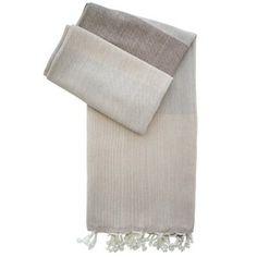 Hamamtuch James braun - handgewebt - neue Pestemal-Kollektion. Turkish Towel Alexa from our new collection