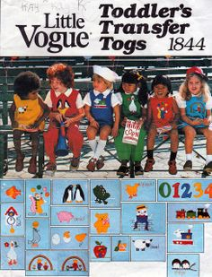 Little Vogue 1844; ©1985; Toddler's Jumper, Jumpsuit, Bloomers, Blouse and Shirt: Short, sleeveless, lined-to-edge jumper or short or long sleeves jumpsuit, lined-to-edge above waistline, has square neckline, square cutaway armholes and button and buttonhole closing at shoulder, jumpsuit also has buttoned tab at side seam holding in slight fullness and can be made with or without snap closing in pants section. Bloomers (worn under jumper) have no side seams and are elasticized at waistline…