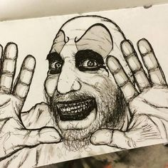 Captain Spaulding sketch. #ink #illustration #art #houseof1000corpses #horror #clowns & A Rose A Key An Unfound Door Ink Marker Watercolor And the rose ...