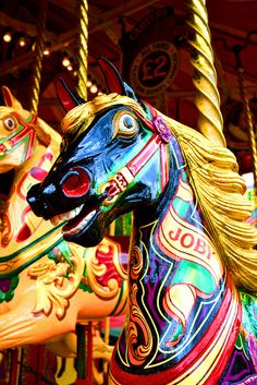 Carousel horse at Carter's Steam fair, Dulwich, London by Georgina Rodgers, via Flickr