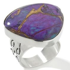 Jay King ~ Purple Turquoise Sterling Silver Ring.