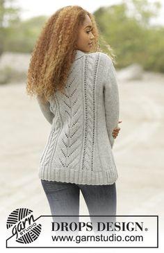 Arrowhead pattern by DROPS design – Knitting patterns, knitting designs, knitting for beginners. Ladies Cardigan Knitting Patterns, Baby Sweater Knitting Pattern, Mittens Pattern, Knitting Patterns Free, Knit Patterns, Free Knitting, Free Pattern, Drops Design, Crochet Jacket