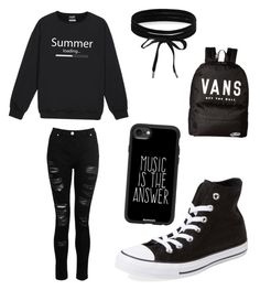 """""""Idk"""" by stefanie-ege on Polyvore featuring Dorothy Perkins, Converse, Vans, Casetify and Boohoo"""
