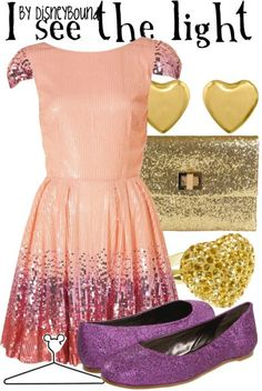 DisneyBound!-- I don't normally care for these, but this is cute and I do love Rapunzel.