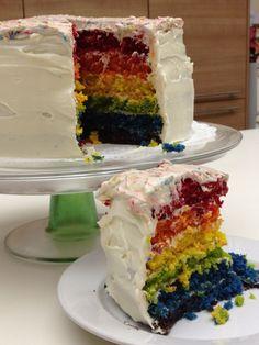 Luscious Rainbow Cake