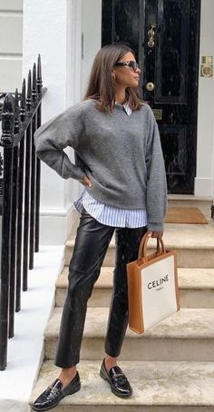 Fall Fashion Outfits, Casual Winter Outfits, Outfits With Striped Shirts, Fall Capsule Wardrobe, Wise Women, Professional Attire, Everyday Outfits, Shirt Outfit, Autumn Winter Fashion