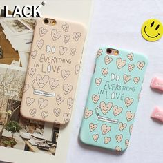 Cute Loving Heart Case For iphone 6 Case For iphone 6S 6 Plus 5 5S Luxury Frosted Hard Phone Cases Cover Capa Everything in love