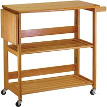 Organize your kitchen utilities in style by choosing this Winsome Wood Radley Natural Kitchen Cart. Made of durable quality for long life. Butcher Block Kitchen Cart, Kitchen Carts, Prep Kitchen, Kitchen Ideas, Kitchen Storage, Kitchen Stuff, Kitchen Organization, Butcher Blocks, Kitchen Dining