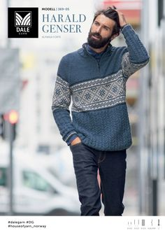 Harald Genser - Køb billigt her Sweater Jacket, Men Sweater, Hip Hop New, Creative Knitting, Fair Isle Knitting, Knit Fashion, Leather Men, Body, Men Dress