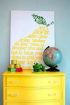 cute art idea for kids room someday