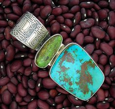 Turquoise Sterling Silver Pendant by RICHARD LINDSAY