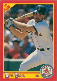 Wade Boggs 1990 Score, Boston Red Sox #MLB #Baseball #HallOfFame #WadeBoggs