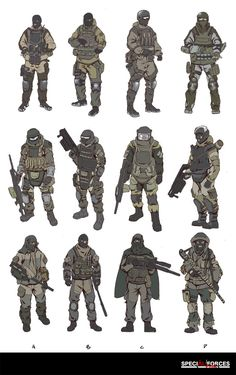 Russia Soldier  Design Sketch, HanG Wang on ArtStation at…