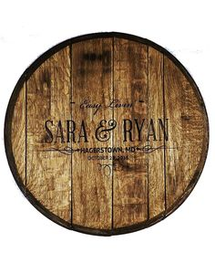 Custom Bourbon Barrel Wedding Guestbook