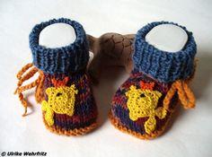 AK14 TimpeTe Babyschuhe gestrickt  strickliene von strickliene Babyschuhe und Turnschuhe auf DaWanda.com