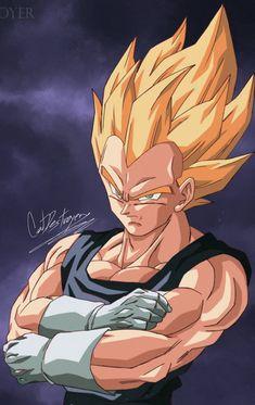Vegeta By: Catdestroyer Ball Drawing, Drawing Poses, Son Goku, Buu Dbz, Goku Vs, Dragon Ball Z Iphone Wallpaper, Dragonball Super, Japon Illustration, Anime Characters