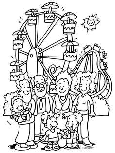 * Familie gaat naar een pretpark Summer Coloring Pages, Cartoon Coloring Pages, Colouring Pages, Adult Coloring Pages, Coloring Sheets, Coloring Books, Print Pictures, Colorful Pictures, Printable Numbers