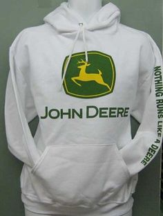 John Deere White Adult Hoodie - Deere White Adult Hoodie NuBlend pill-resistant fleece, double-needle stitched at stress points for long wear. Cute Country Outfits, Country Girl Style, Trendy Outfits, Cute Outfits, My Style, Flannel Outfits, Western Style, Kinds Of Clothes, Hot Clothes