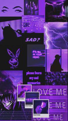 Bad Girl Wallpaper, Purple Wallpaper Iphone, Neon Wallpaper, Iphone Wallpaper Tumblr Aesthetic, Cute Patterns Wallpaper, Iphone Background Wallpaper, Aesthetic Pastel Wallpaper, Aesthetic Wallpapers, Dark Purple Aesthetic