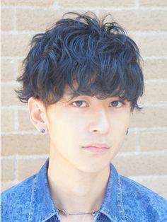 LIPPS 原宿 【リップス ハラジュク】黒髪ツーブロック グランジサイドパートスマートマッシュ
