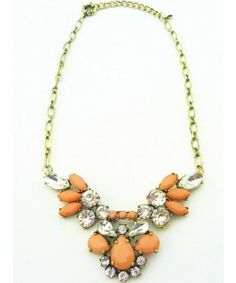 J.Crew Classic Elegant Gem Crystal Flower Necklaces & Pendants