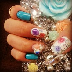 Make a statement with these nails. Come in to redo this look! #aritumspa #nails #nailart #manicure