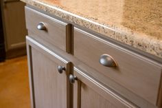 Rustoleum cabinet transformations in Federal Gray - for wall cabinets and base cabinets - island could  be different