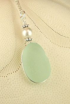 GENUINE Aqua Sea Glass Jewelry, Wire Wrapped, by seaglassgems4you,+$45.00