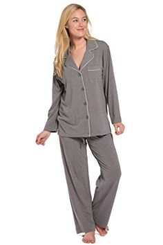 f352cf4cbb Fishers Finery Women s Women s Ecofabric Pajama Set (Black