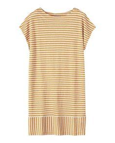 LINEN JERSEY BEACH DRESS