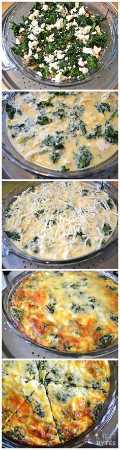 joysama images: spinach, mushroom & feta crustless quiche