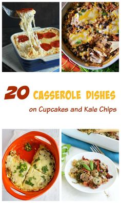 20 Casserole Recipes.  The best comfort food straight out of your oven and onto your dinner table!  Who doesn't love a little comfort food now and then?