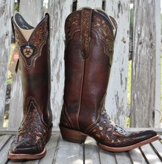 Presidio Perfect Brown Cowboy Boot by Ariat