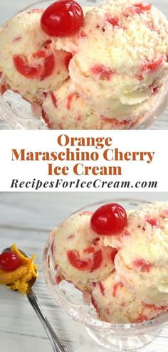 Orange Ice Cream, Cherry Ice Cream, Ice Cream Ingredients, Soft Serve, Summer Treats, Ice Cream Recipes, Sorbet, Cake Cookies, Amazing Cakes