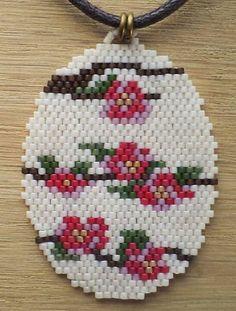 Beadwork, Beading, Bead Necklaces, Brick Stitch, Loom, Diy And Crafts, Holiday Decor, Flowers, Inspiration