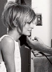 Nicole Richie, her hair is actually pinned like that! I wish I knew how to do this, I would never cut my hair this short, it just wouldn't look good on me! Love Hair, Great Hair, Gorgeous Hair, Amazing Hair, Pixie Hairstyles, Short Hairstyles For Women, 2015 Hairstyles, Black Hairstyles, Simple Hairstyles