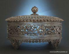 arabic marked filigree silver box