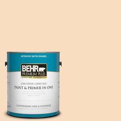 BEHR Premium Plus 1-gal. #M240-2 Pinch of Pearl Satin Enamel Interior Paint