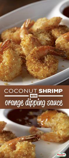 Coconut Shrimp with Orange Dipping Sauce - a unique appetizer recipe!