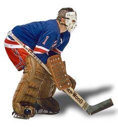 Giacomin, Eddie -- Honoured Player -- Legends of Hockey Rangers Hockey, Hockey Goalie, Hockey Games, Ice Hockey, Hockey Pictures, Sports Pictures, Hockey World, Goalie Mask, Nhl Players