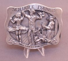 Vintage 1985 Square Dance Belt Buckle By Arroyo Grande Buckle Co made in USA Arroyo Grande, Dance Belt, Vintage Belt Buckles, Square Dance, How To Make, Ebay, Free Shipping, Sweet, Candy