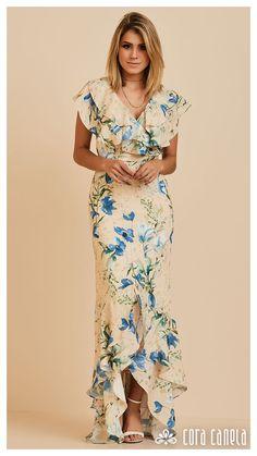 LOOK BOOK 07 • Coleção Zamá • Cora Canela Designer Party Dresses, Party Dresses Online, Casual Dresses, Fashion Dresses, Summer Dresses, Tall Girl Fashion, Dresses To Wear To A Wedding, Mom Dress, Simple Outfits