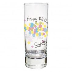 Personalised Birthday Balloon Shot Glass Personalized Balloons Gifts For Her Colourful