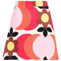 Miu Miu Printed Cotton-Terry Skirt