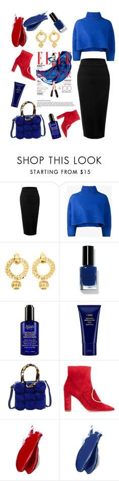 """Blueberry"" by felicitysparks ❤ liked on Polyvore featuring LE3NO, Vika Gazinskaya, Chanel, Bobbi Brown Cosmetics, Kiehl's, Space NK, Oscar Tiye and Balmain"
