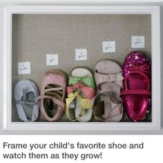 Frame your child's favorite shoe and watch them grow