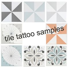 Easy To Apply Tile Tattoos For Kitchen And Bathroom Tiles Can T Decide Which