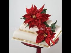 """""""Christmas in July""""  How to Create Flower paste Poinsettias"""
