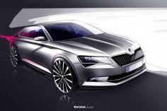 New Skoda Superb Design Sketch