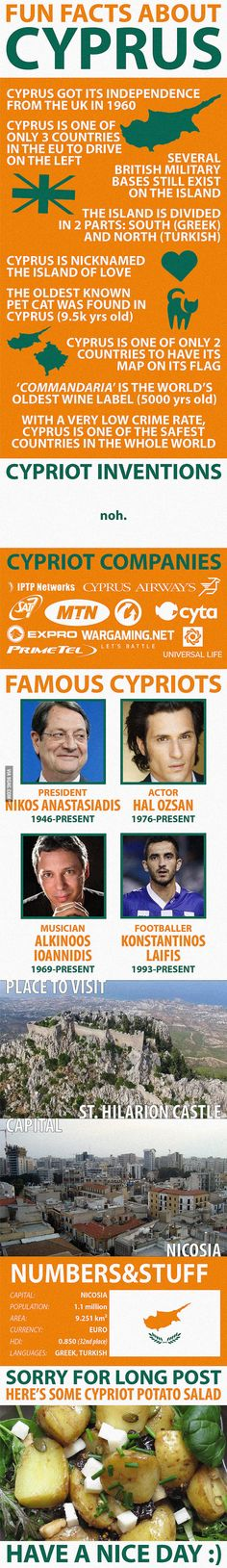 Fun facts about Cyprus